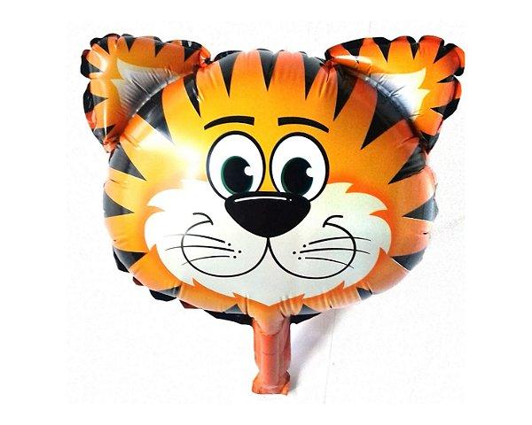 Balão Metalizado -  Tigre Safari -  45cm