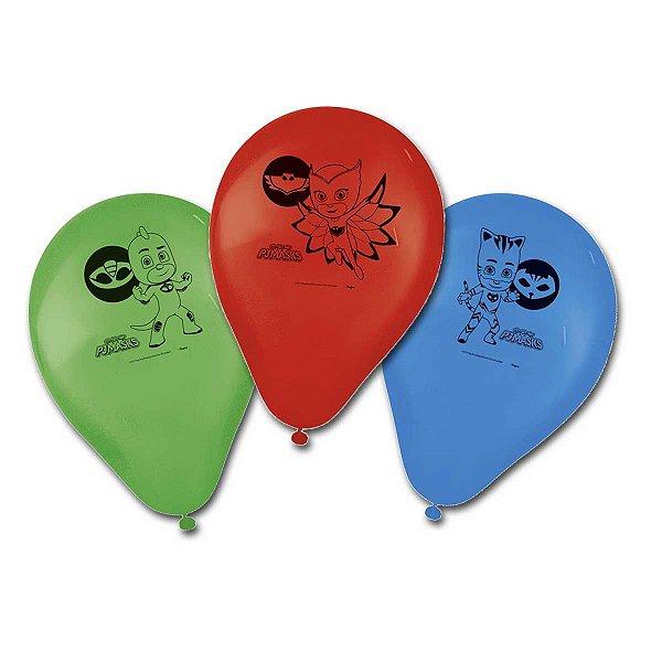 Balão Especial 9 Polegadas - PJ Masks - 25 unidades