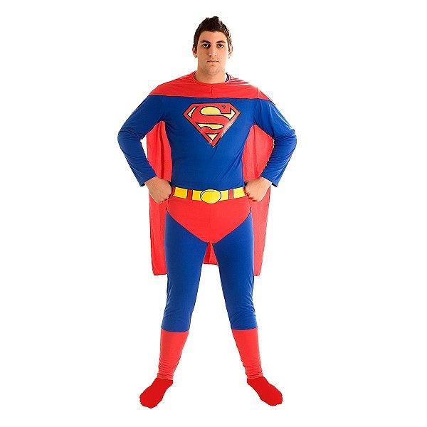 Fantasia - Super Homem Std - Adulto - Tamanho G