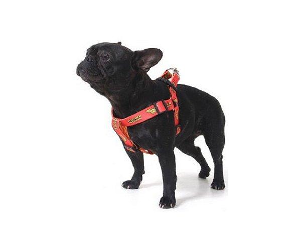 Peitoral Para Cachorro -Mulher Maravilha - Tamanho EG