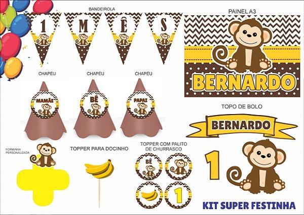 Kit Mensário - Macaco - 7 itens