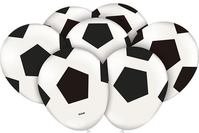 Balão látex 9 Polegadas - Futebol - 25 unidades
