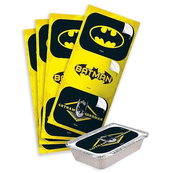 Adesivo Retangular - Batman Geek- 12 unidades