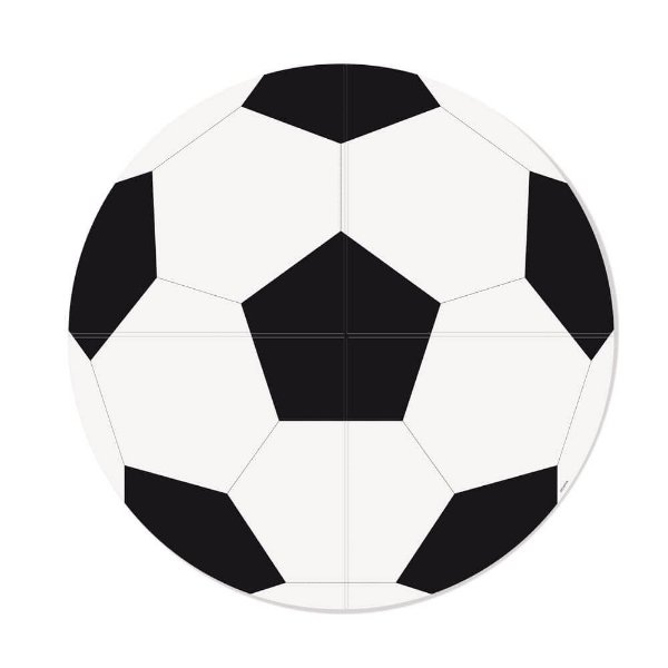 Painel Redondo Papel 4 laminas - Futebol