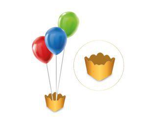 Cachepot com pega balão - Metalizado Dourado