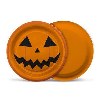Prato de Papel - Abobora Halloween - 08 und