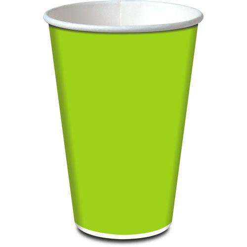 Copo de Papel Verde Limão - Live Colors - 08 unidades - 330ml
