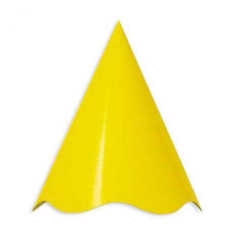 Chapéu de Aniversário Amarelo - Live Colors  16 unidades