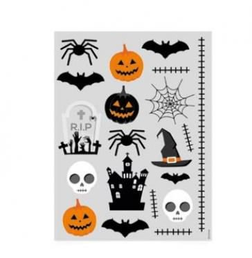 Tatuagem para Pele Halloween - 4 cartelas