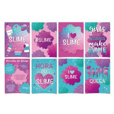 Cartaz Decorativo Slime - 08 unidades