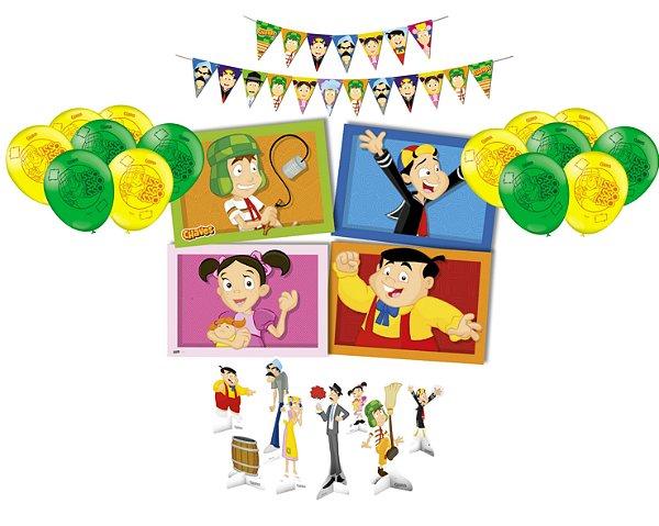 Kit Decoração Festa  - Chaves - Display Painel Faixa Balões