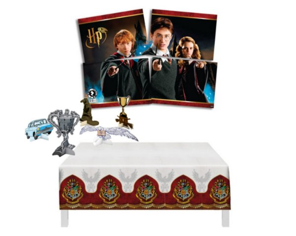 Kit Decoração - Harry Potter - Display Mesa Toalha Painel