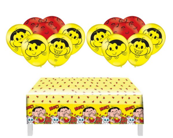 Kit Decoração - Magali - Toalha De Mesa + 25 Balões