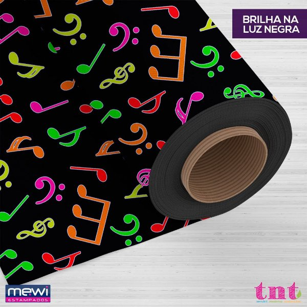Tnt Estampado - Musica Neon - 1 metro