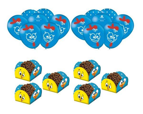Kit Festa Galinha Pintadinha * 25 Balões + 40 Forminhas Doce