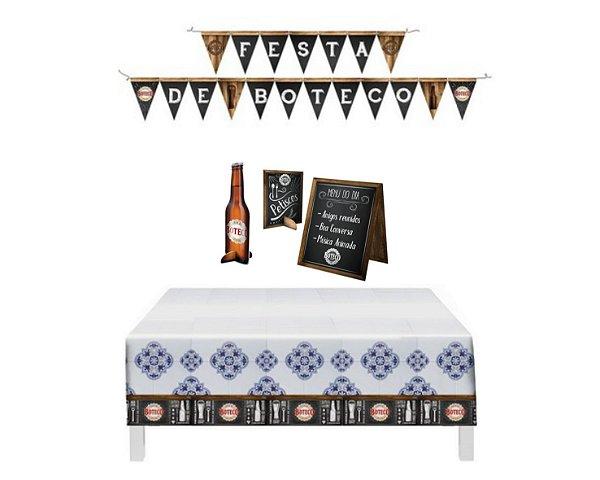 Festa De Boteco * Kit Decoração * Painel Toalha Display Mesa