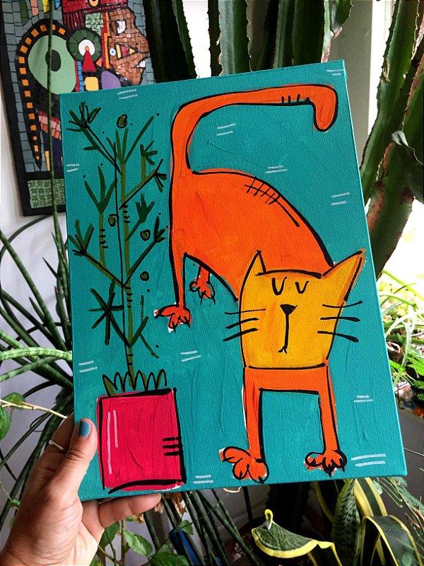 Gato e vaso