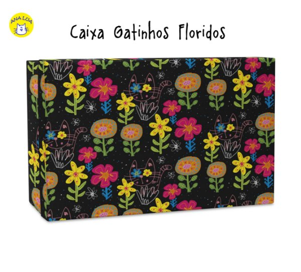 Caixa GAtinhos Floridos