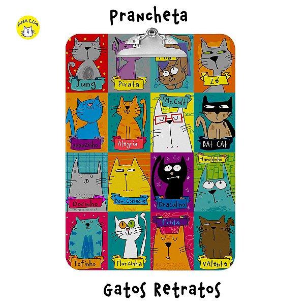 Prancheta Gatos Retratos