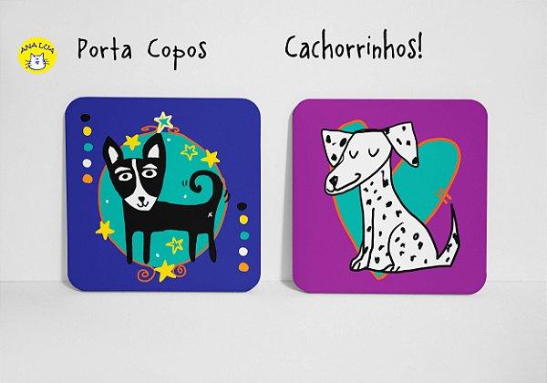 Conjunto de Porta Copos Cachorrinhos