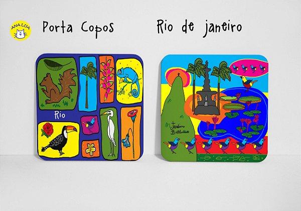Conjunto de Porta Copos Rio de Janeiro
