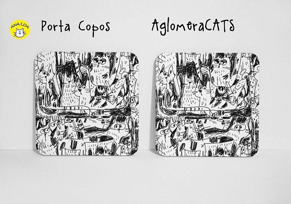 Conjunto de Porta Copos AglomeraCATS