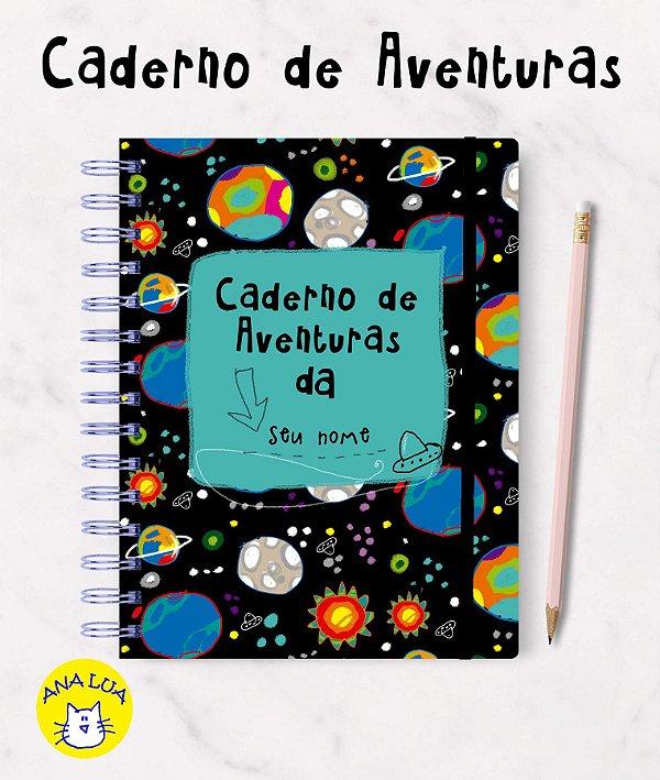 Caderno com seu nome - Aventuras
