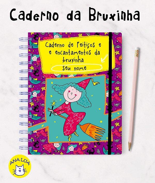 Caderno com seu nome - A bruxinha