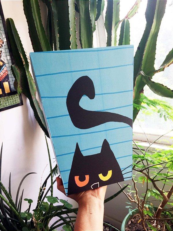 Lixeira Grande  Gato Preto