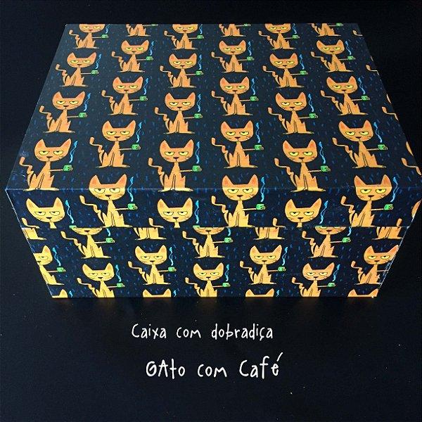Caixa com dobradiça GAto com Café