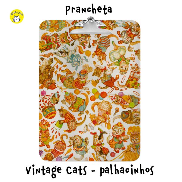 Prancheta Vintage Cats - Palhacinhos
