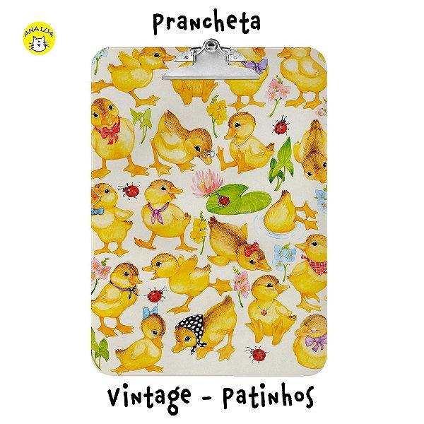 Prancheta Vintage - Patinhos