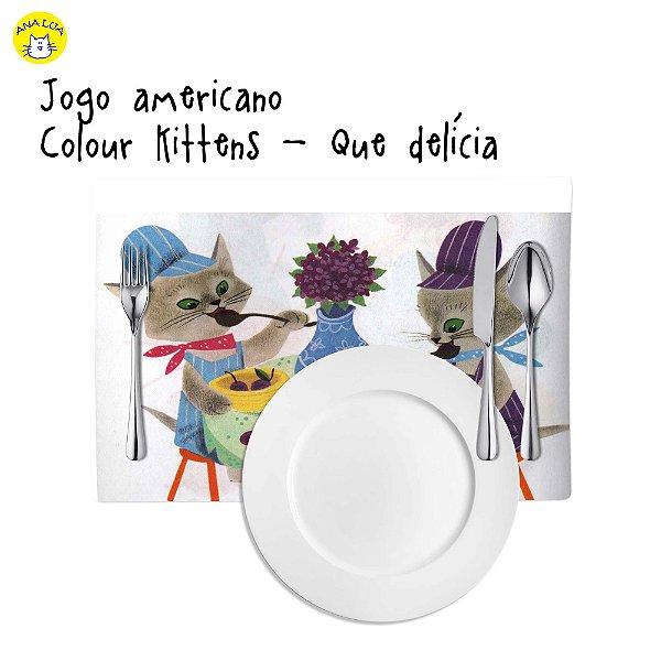 Jogo Americano Colour Kittens - Delícia