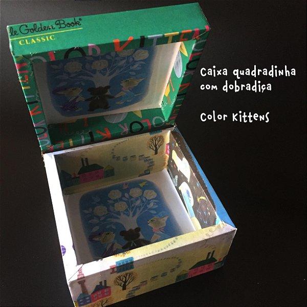 Caixa Quadrada com dobradiça Color Kittens