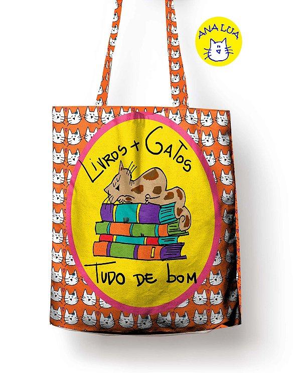 Sacola Gatos e Livros
