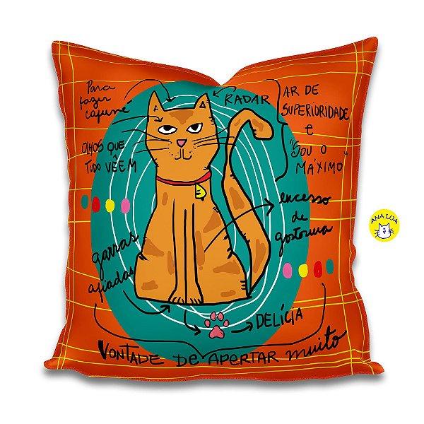 Capa de almofada  Infográfico Gato