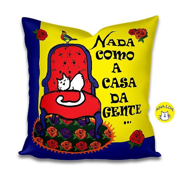 Capa de Almofada Nada como a casa da gente-sofá