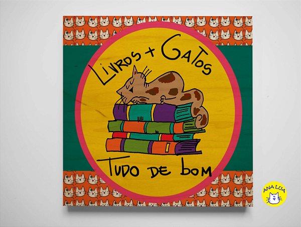 Quadrinho Gatos e Livros