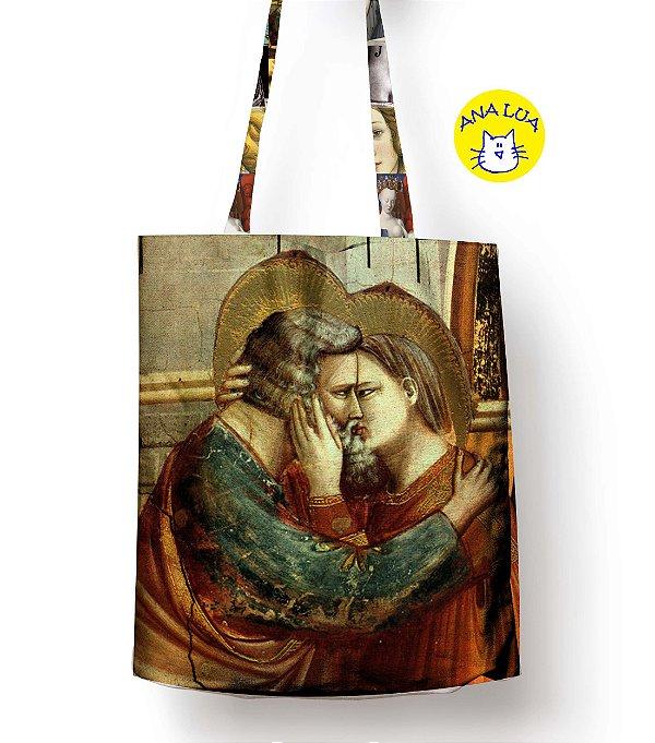 Sacola Arte - Encontro de Anna e São Joaquim - detalhe ,Giotto.