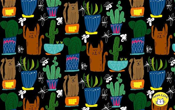 Malha  - Gatos e Cactus