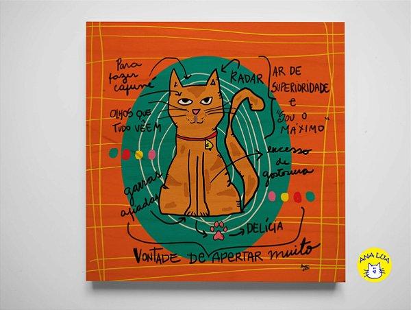 Plaquinha Infográfico Gato