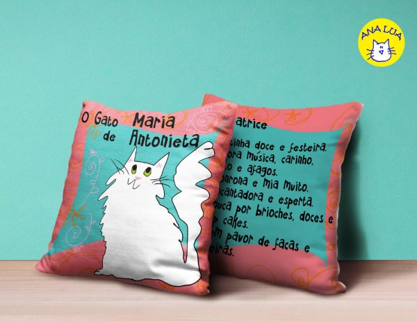 Capa de Almofada Gatinhos Fantásticos - O gato de Maria Antonieta