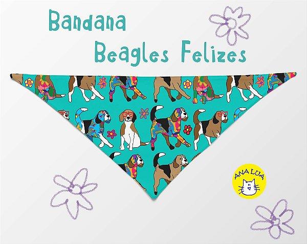 Bandana Beagles Felizes