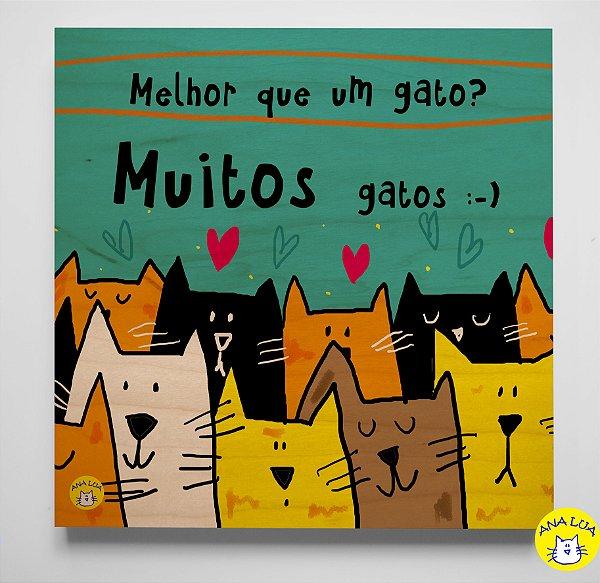 Plaquinha Muitos Gatos!!!!