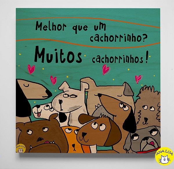 Quadrinho Muitos Cachorrinhos