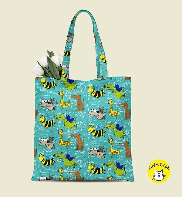 Book bag  Bichos Estranhos fd azul