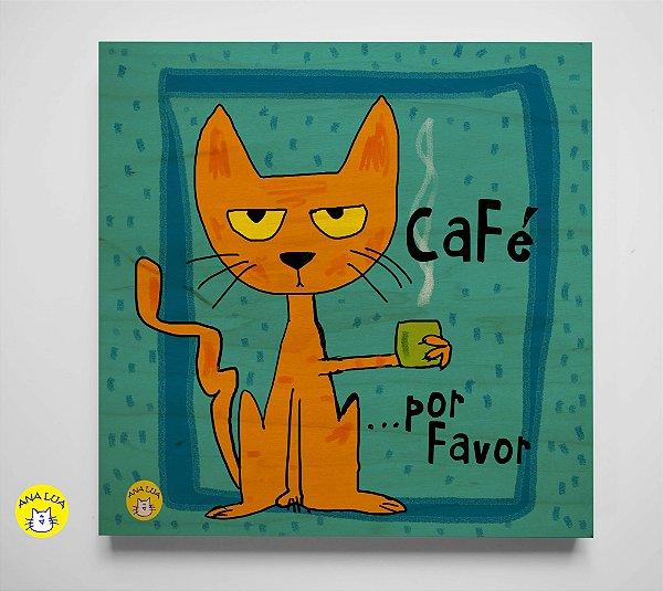 Plaquinha Café por favor
