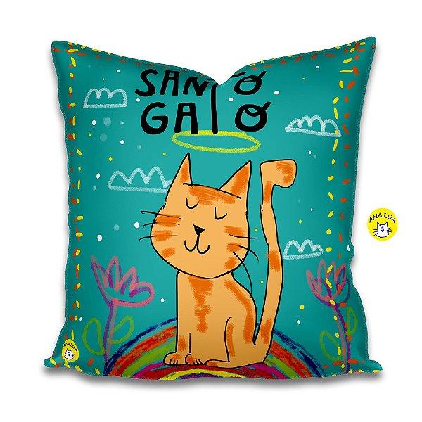 Capa de Almofada  Santo Gato