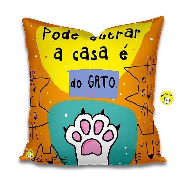 Capa de Almofada  A casa é do gato