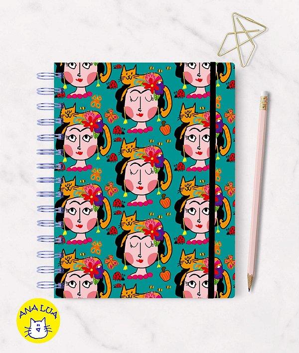 Caderno Frida e seu gato